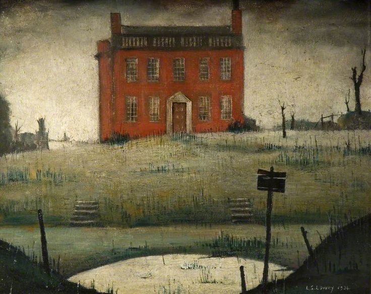 BBC - Your Paintings - The Empty House, 1934, Laurence Stephen Lowry(1887–1976), British, The Potteries Museum & Art Gallery.