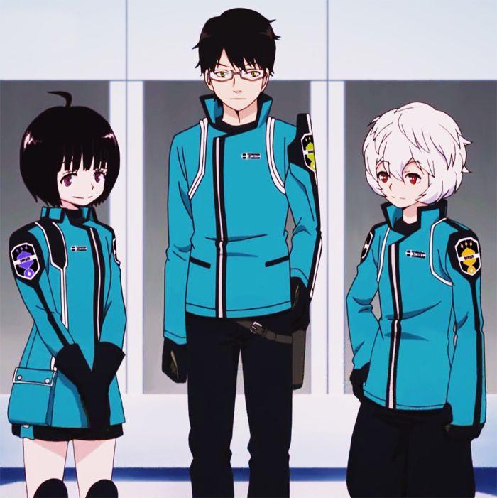 worldtrigger-on:  Tamakoma - 2 (Osamu, Yūma   and Chika)