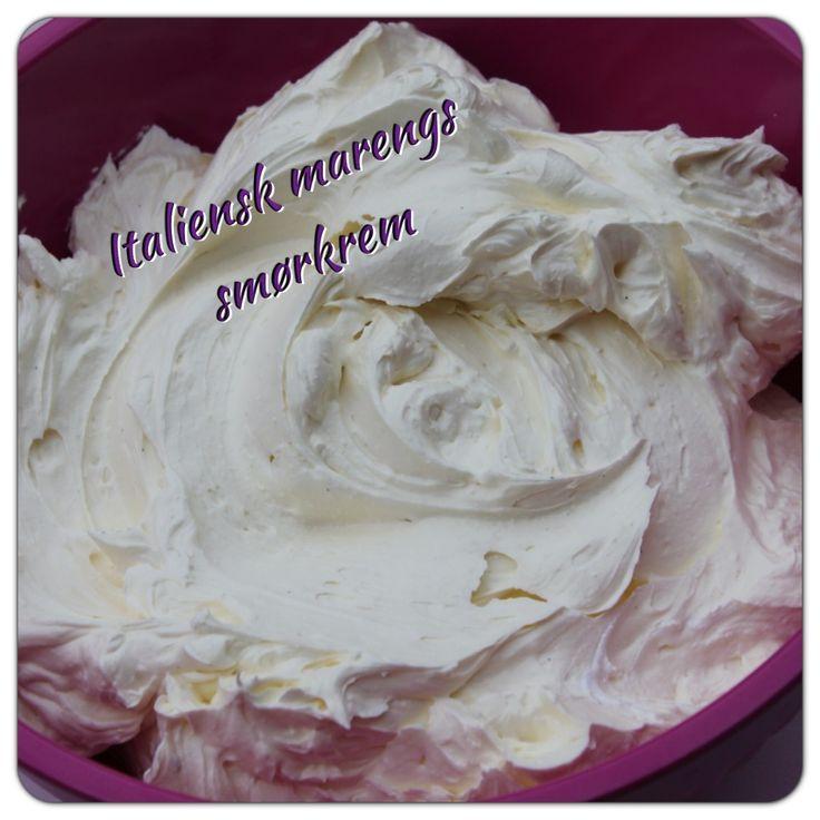 Marengs smørkrem til angel food cake