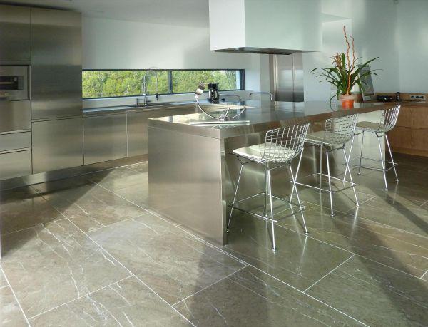 Brushed Grey Venezia Spanish Limestone For The Kitchen 1200x600