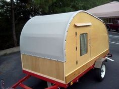 A cheaper custom built teardrop - I think I should have one of these. :)