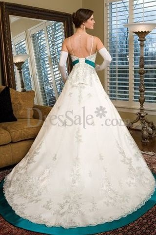 Colored Wedding Gowns with Strapless Neckline for Autumn Weddings, Wedding Dresses with Color - dressale.com