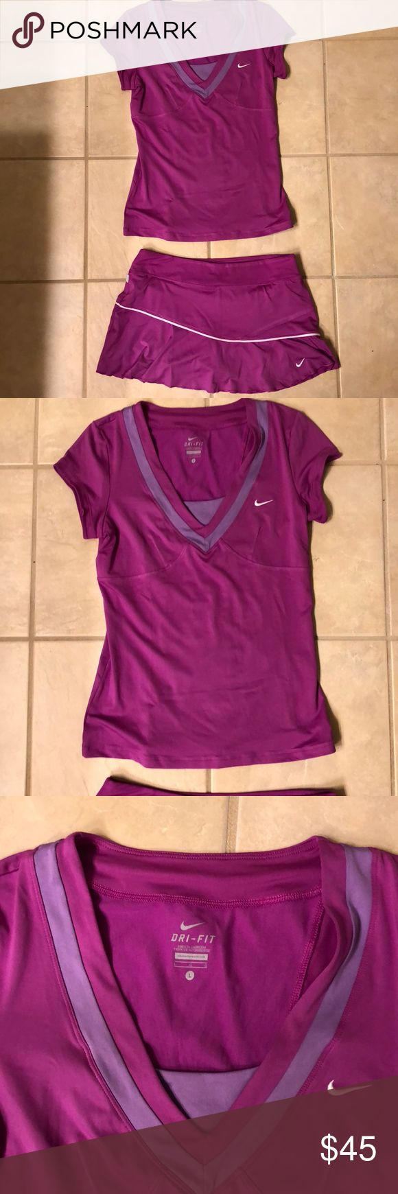 Nike Dri-Fit tennis 🎾 wear This awesome Dri-Fit Nike outfit is great for working out or wearing as an outfit for the day. The bottom piece is a skort which is shown in pics. Nike Other
