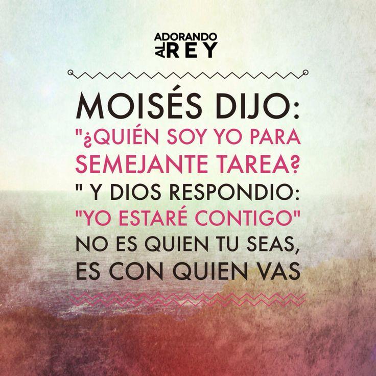 No es quien tu seas, es con quien vas. #Dios #Jesus #Jesucristo #Cristo #EspirituSanto #GranYoSoy #Avivamiento #AdorandoalRey