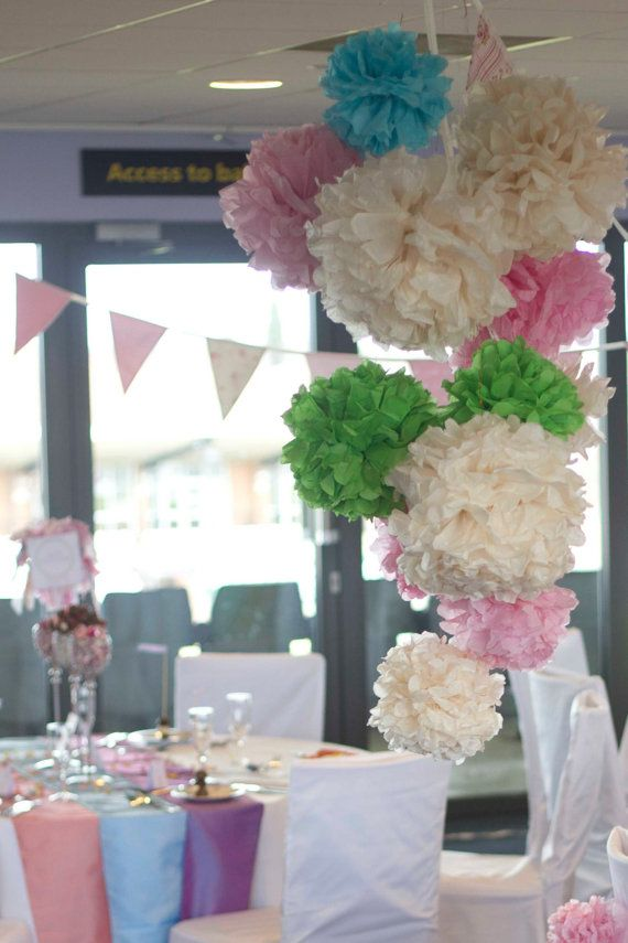 62 best images about pom poms on pinterest paper pom poms wedding ceiling decorations and. Black Bedroom Furniture Sets. Home Design Ideas