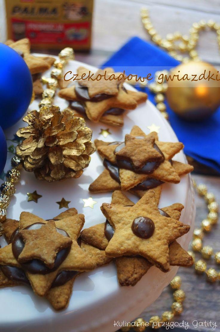 Kulinarne przygody Gatity: Imbirowe gwiazdki z kremem czekoladowym