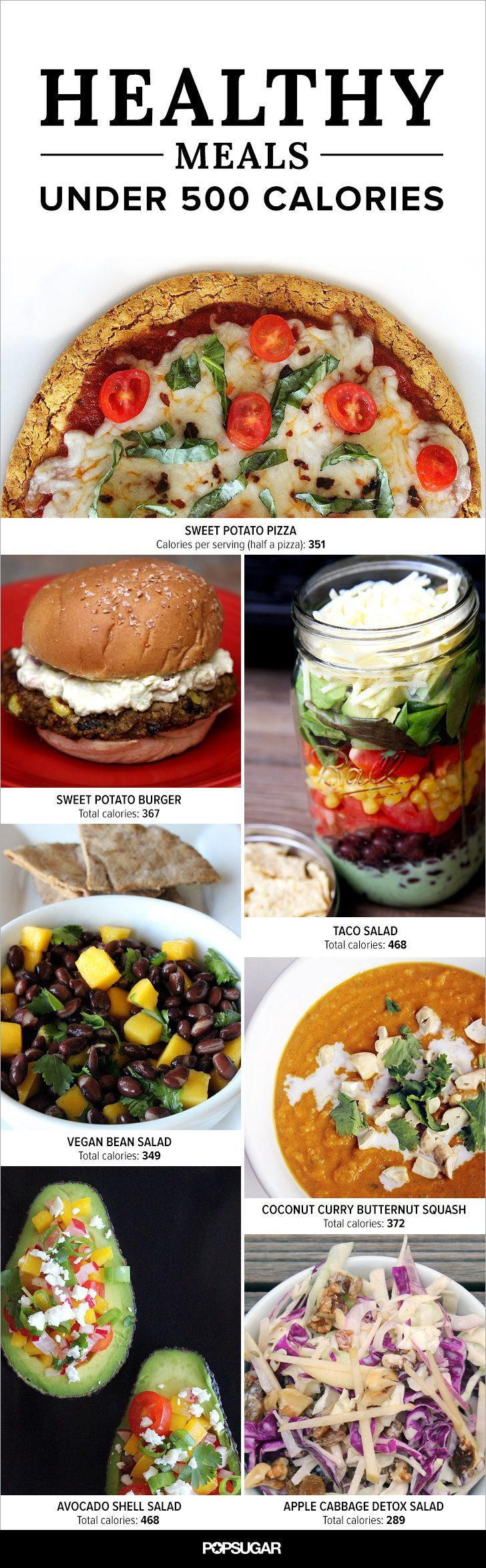 Each of these comforting and filling meals is well under 500 calories, meaning you'll be full and satisfied afterward without sacrificing weight-loss goals.