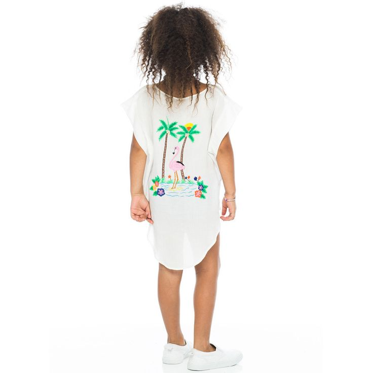 Zuttion Flamingo Tunic at Hipkin. As avid beach goers, we think this tunic dress would be perfect for your little loves to throw over their togs for a trip to the pool or beach. Such a tropical, fun print in a light, cool fabric - it's bound to become a summer staple.