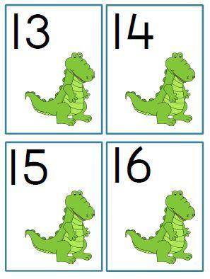 getalkaartjes krokodil