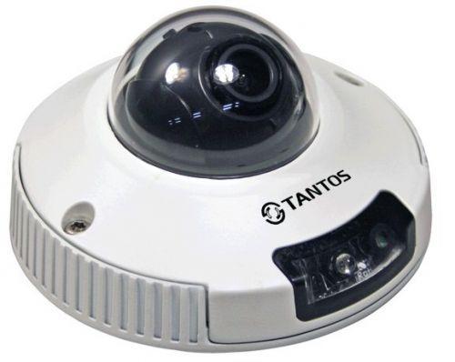 Купольная камера Tantos TSi-DVm451F (2.8) TSi-DVm451F (2.8) Tantos TSi-DVm451F (2.8) - видеокамера купольная компактная антивандальная с ИК подсветкой. Четырехмегапиксельная, 2688х1520х15к/с, 2560х1440х15к/с, 2304х1296х20к/с, 1920х1080х 30 к/с. Матрица 1/3 CMOS сенсор с чувствительностью 0.1 Люкс (день) / 0.01 Люкс (ночь) / 0 Люкс (с ИК подсветкой), Н.264/H.264 (Двойное кодирование).Объектив фиксированный 2.8 мм/M12 сменный. Механический ИК фильтр, microSD до 64 Гб, двухсторонний звук…
