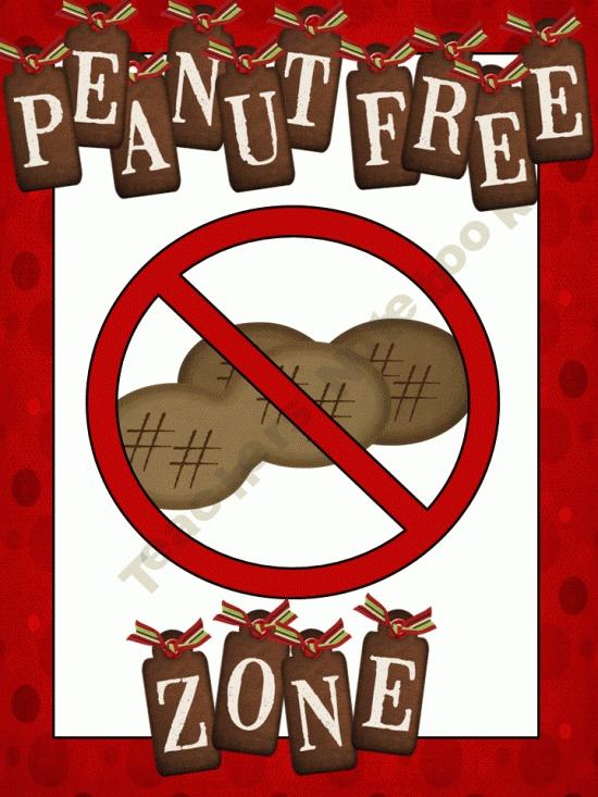 Peanut Free Zone //1st-Grade-Teacher Shop - | Teachers Notebook