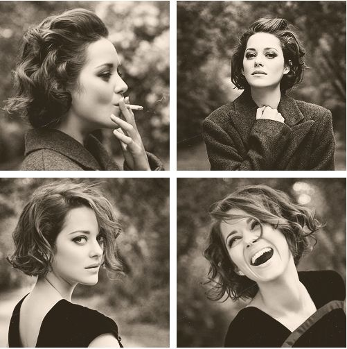 """""""I cannot express how simultaneously exquisite and devastating it is for me to look at this woman."""" - I'll keep the original pinners description of Marion Cotillard."""