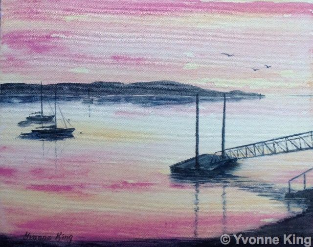 Original Irish Art,Seascape,Clifden Bay,Connemara,Boats,Sunset,Yvonne King,Artist Quality,Wild Atlantic Way,Galway,Perfect Gift,Home Decor by YvonneKingArt on Etsy https://www.etsy.com/listing/261403987/original-irish-artseascapeclifden
