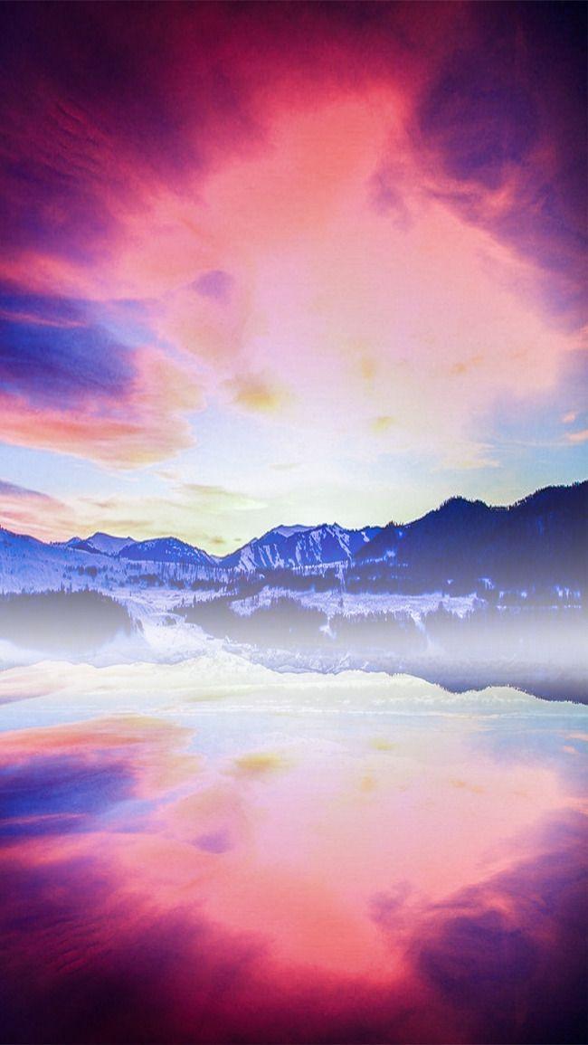الحلم بحيرة الغروب H5 Lake Sunset Photo Lake