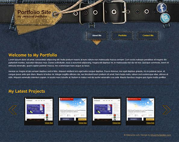 web template:  Website