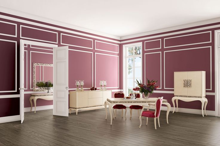 Luxus dark pink dining room  Jetclass | Real Furniture Luxury Interior Design