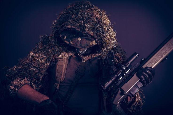 airsoft sniper with M40a sniper rifle (greengas) an ghillie suit