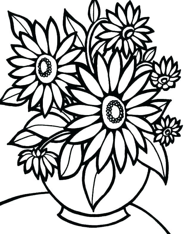 impresión de flores páginas para colorear páginas para colorear ...
