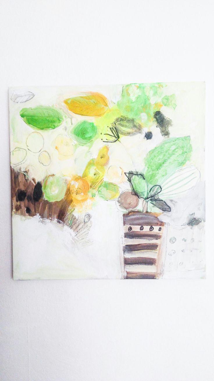 Małgorzata Kobus, The plant, acrylic on canvas