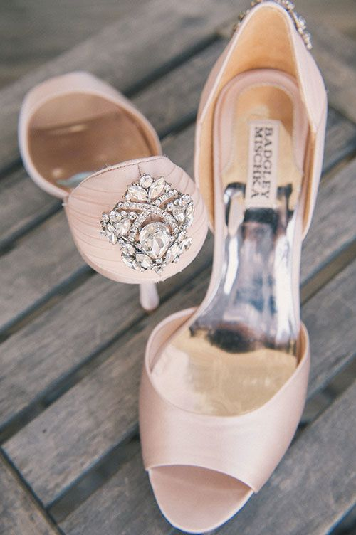 Waterfront Rooftop Wedding in St. Augustine, FL, Blush Wedding Shoes | Brides.com