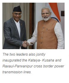"NEW DELHI: Nepal today assured India that it would not allow any activity against its ""friendly neighbour"", as the two sides signed eight pacts, including on cooperation in countering drug trafficking and post-earthquake reconstruction in the Himalayan natio   Get #NarendraModi & #BJP #latestnews and #updates with - http://nm4.in/dnldapp http://www.narendramodi.in/downloadapp. Download Now."