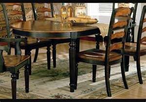 distressed black kitchen table