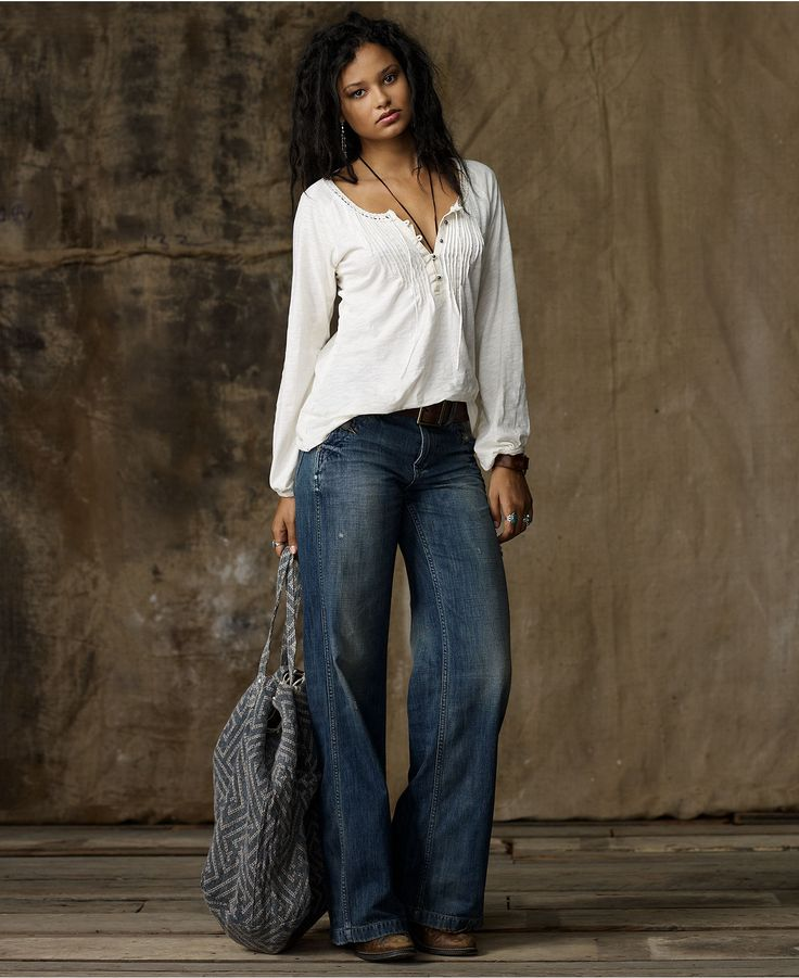 Womens Flare Jeans Long