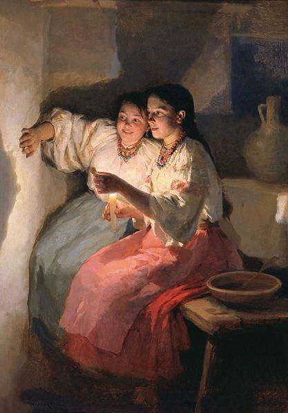 Slavic folklore paintings