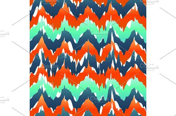 Vibrant chevron pattern. Spring by Rommeo79 on @creativemarket