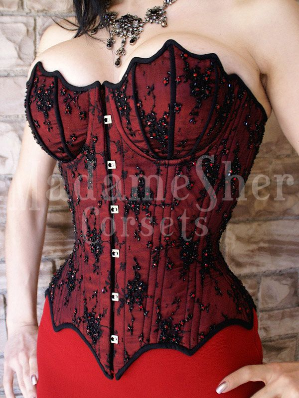 Madame Sher does such beautiful cupped corsets.
