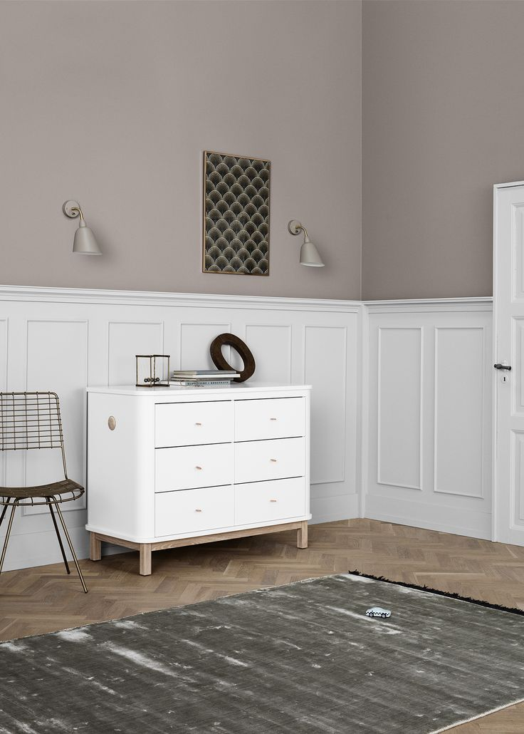 Pretty Pastels Are The Perfect Complement To Children S Furniture Wood Six Drawer Dresser In White