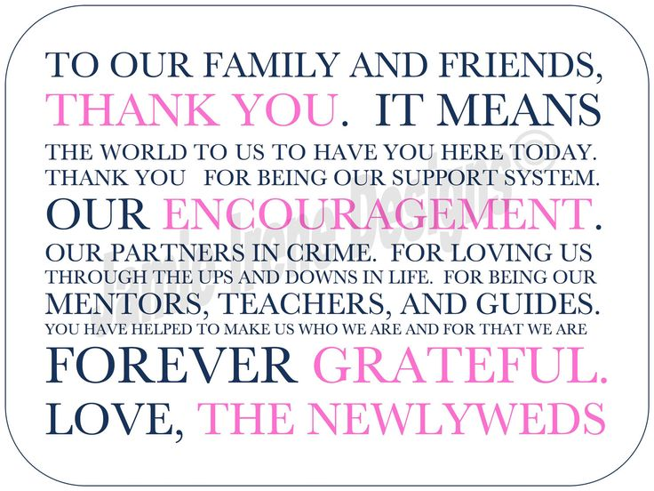 The 25 best Thank you card wording ideas – Wedding Card Thank You Sayings