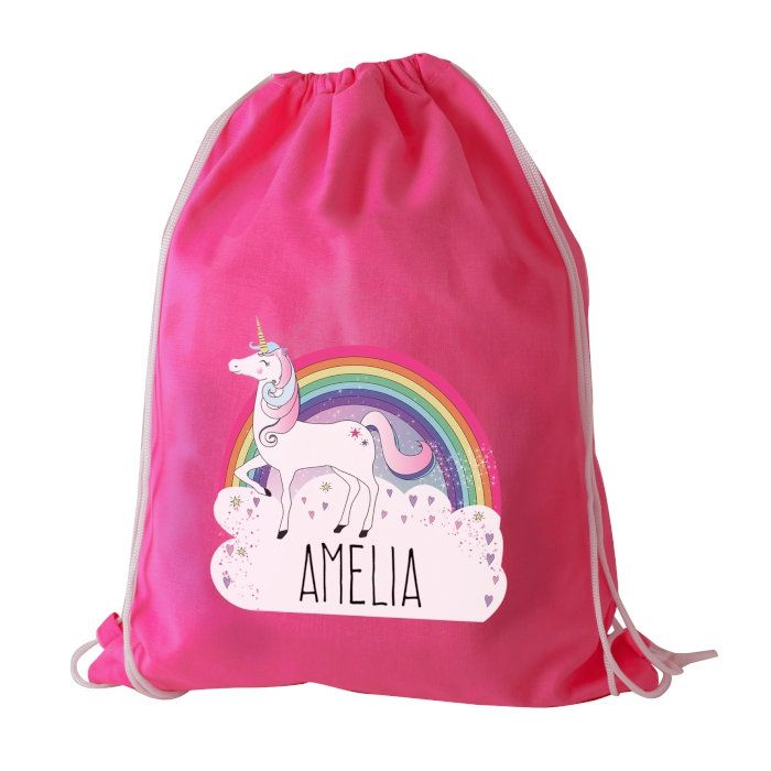 Personalised Unicorn Swim & Kit Bag / Waterproof Sports Bag / Gift for Unicorn Lover / Great for Tweens Birthday by ShopReddish on Etsy