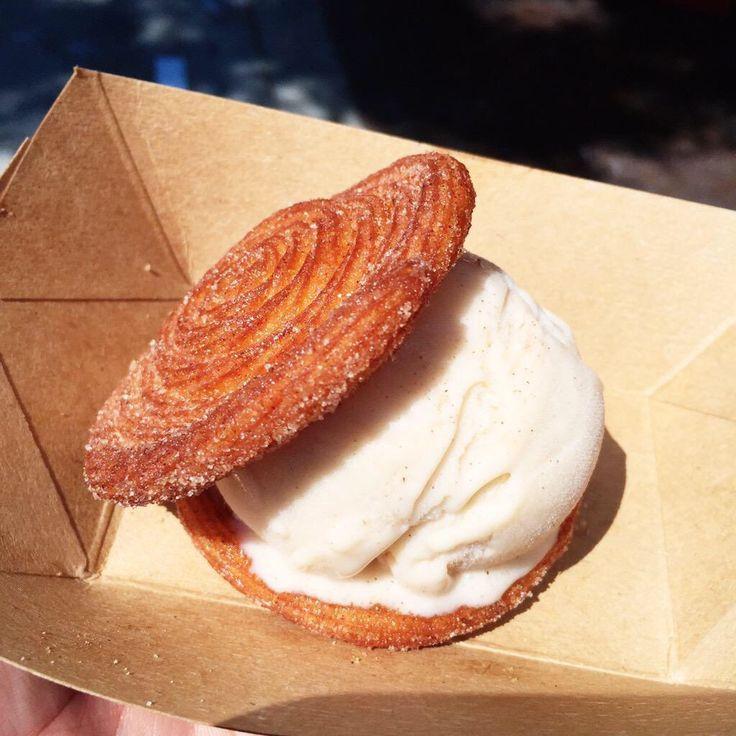 Churro & Horchata Ice Cream Sandwich