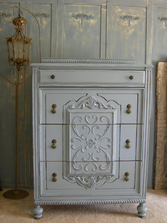 Shop And Buy My Shabby Chic Furniture Online French Blue Antique Dresser Tall Highboy Chest