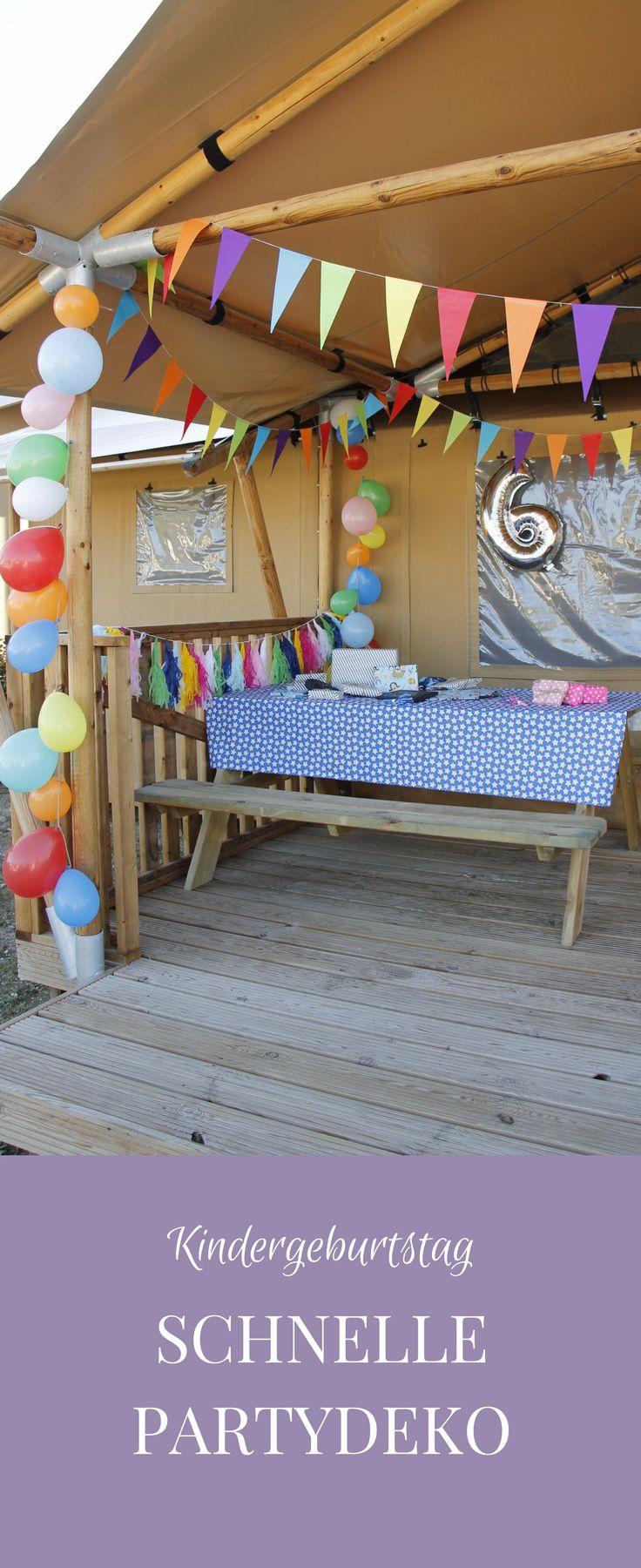 Kindergeburtstag Partydeko: Ideen und Tipps kann man nie genug haben. Tipps für eine schnelle Partydeko findet ihr bei uns im Blog. Die Party Deko ist übrigens nicht nur für den Kindergeburtstag, sondern auch für Sommerpartys o.ä. geeignet.