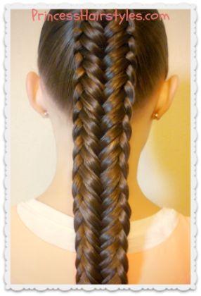 Twisted Edge Fishtail Braid Hairstyle