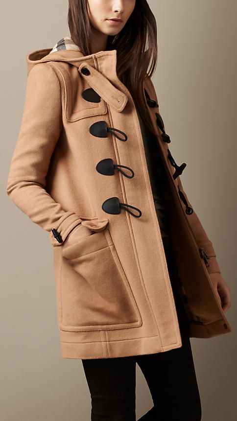 Aw man, this coat looks comfy. And look at the size of that pocket!  Burberry Brit Straight Fit Duffle Coat