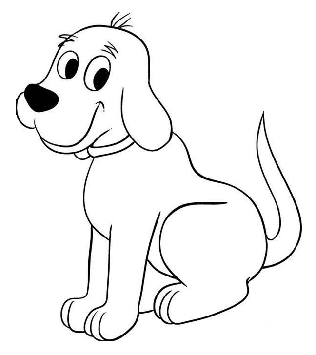clifford preschool coloring pages - photo#12