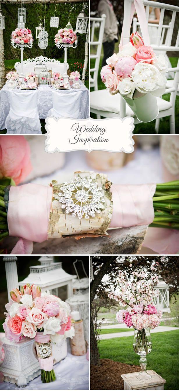Tante idee shabby chic per il vostro matrimonio sui toni del rosa e verde. #Dalani #Wedding #Shabby