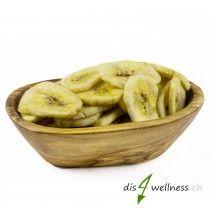 Bananenchips - Bananenchips sind ein ballaststoffreicher Vitaminlieferant.  Der knusprige Snack für zwischendurch. Als  super Zugabe im Müsli sorgen sie für einen länger anhaltendes Sättigungsgefühl.