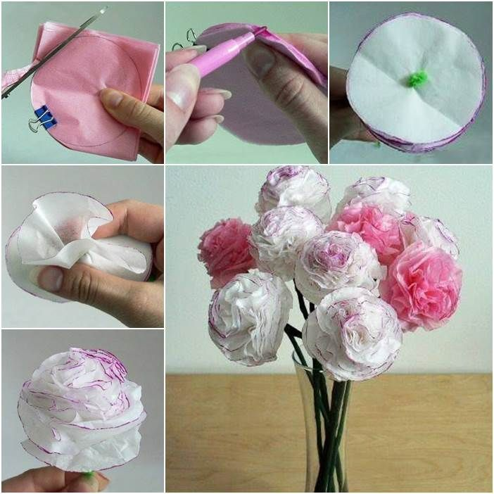 Creative Ideas - DIY Beautiful Tissue Paper Flowers | iCreativeIdeas.com Follow Us on Facebook ==> www.facebook.com/iCreativeIdeas