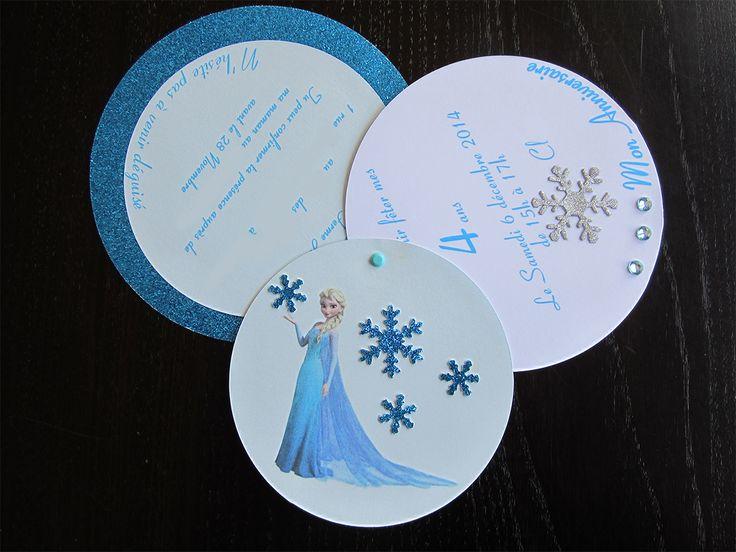 Un joli carton d'invitation à réaliser pour un anniversaire reine des neiges