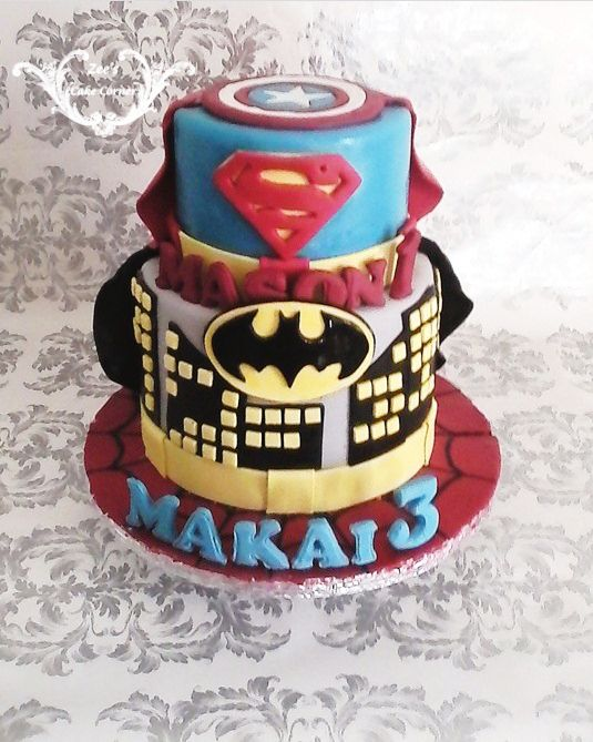 Super Hero Themed cake