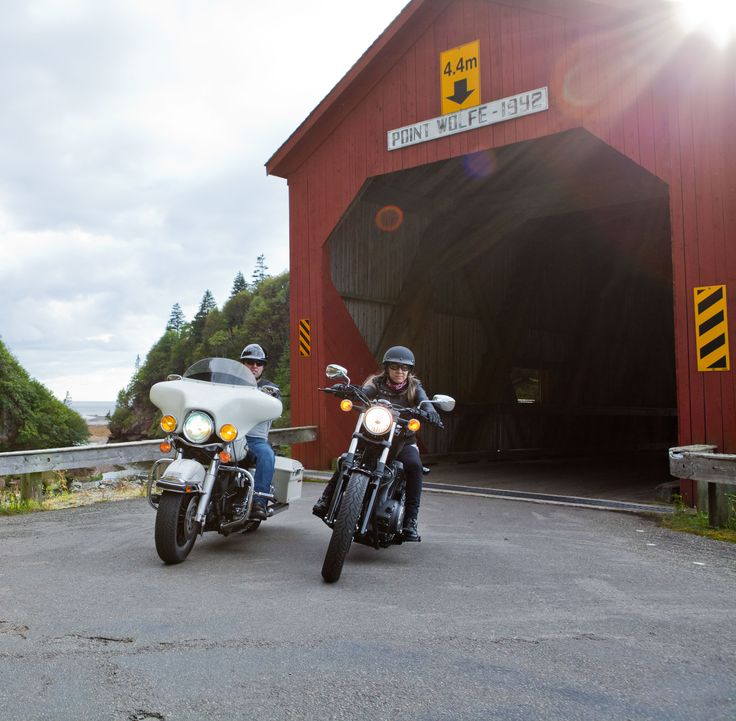 There are a ton of covered bridges to explore in southern New Brunswick (also called 'kissing bridges'), just like this historical one in Fundy National Park.