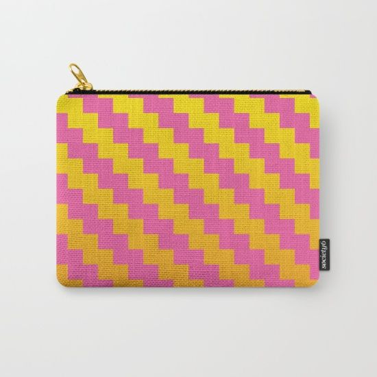 Yellow Orange and Pink Pattern Carry All Pouch  by DavidsSociety6 @society6 #abstract #orange #yellow #pink #zigzag #pattern #chic #modern #cosmetic #bag #makeup #color #vibrant #society6 #products #design #shop #shopping #buy #sale #fun #gift #idea #accessory #accessories #home #decor #style #fashion #art #digital #contemporary #cool #hip #awesome #awesomeness #chic #fashion #style #print #wall #homedecor #sweet