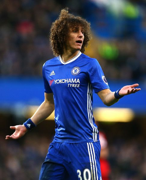 David Luiz of Chelsea reacts during the Premier League match between Chelsea and AFC Bournemouth at Stamford Bridge on December 26, 2016 in London, England.