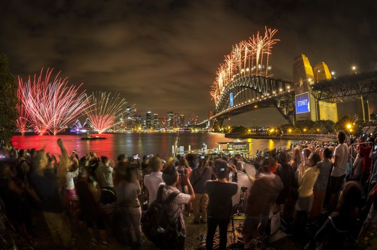 *AUSTRALIA ~ New Year's Eve – bring Sydney to life. Sydney Harbour, the iconic Sydney Opera House and Sydney Harbour Bridge cast a dramatic setting for New Year's Eve fireworks. The spectacular fireworks displays are televised and watched by revelers all over the world, whilst locals camp out and line the harbour shore to watch the spectacle. .