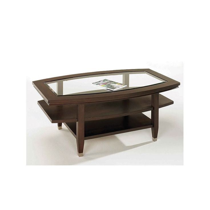 The Northern Lights Oval Cocktail Table is crafted with a multi-step finish to protect the wood surface. It's the perfect place to hold snacks and drinks during the big game! #FathersDay #FathersDayGift #GiftsForDad