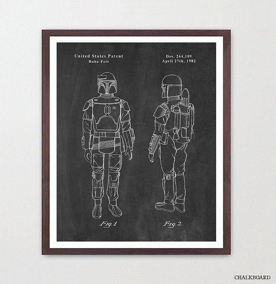 Star Wars - Boba Fett - Star Wars Patent - Star Wars Poster - Star Wars Art - Boba Fett Patent - Star Wars Wall Art - Boba Fett Art - Fett